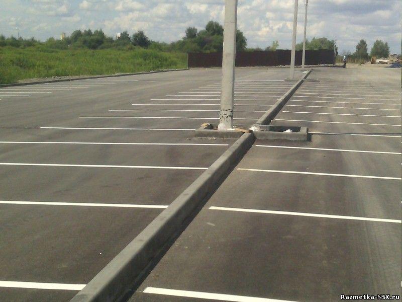 Разметка на парковке ЖК Новомарусино